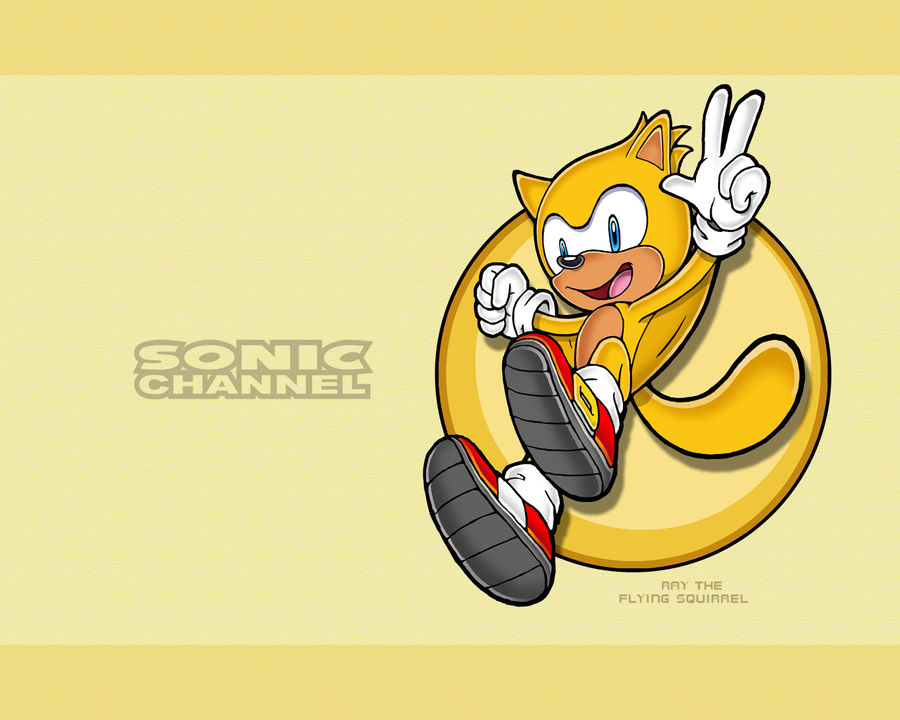 Sonic Channel Ray Wallpaper By E 122 Psi On Deviantart