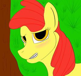 Apple Bloom Shy by ganondorfone