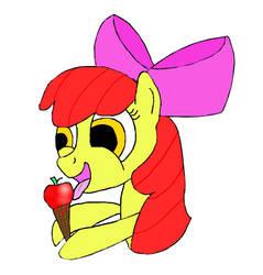 Apple Bloom Eating Ice Cream by ganondorfone