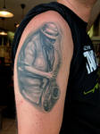 The Saxplayer by Anderstattoo