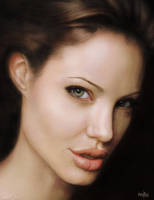 Angelina Jolie portrait by redfill