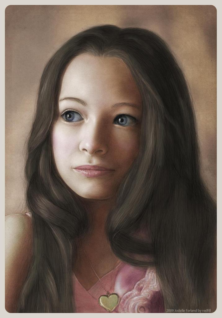 Jodelle Ferland portrait color by redfill