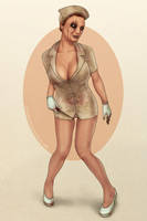 Silent Hill nurse pinup by redfill