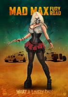 Immortan Joe female cosplay poster by redfill