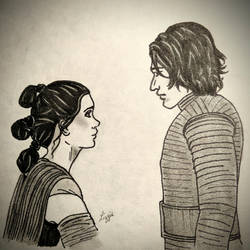 Rey and Ben by TheSleepyRabbit