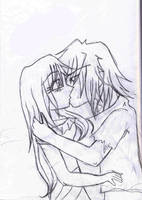 Rough Sketch of a Kiss by TheNobody1990