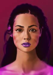 Purple Lips by T-Free