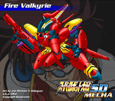 SD Fire Valkyrie by CKaiCydek