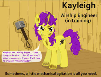 Kayleigh, Airship Engineer 'in training' by Birdco