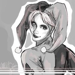 Harley Quinn Sketch by LalaKachu