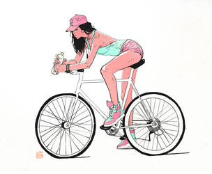 Some Bicycle Girl by SteveAhn