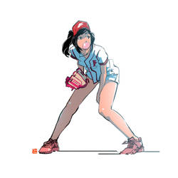 Some Baseball Girl 2 by SteveAhn