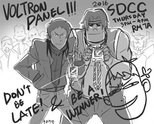 Lance and Hunk at SDCC 2016 by SteveAhn