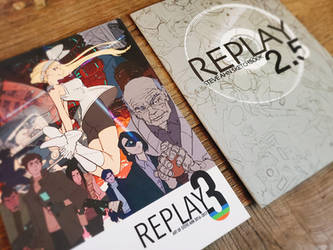Reprinting my sketchbooks, Replay 2_5 and 3 by SteveAhn