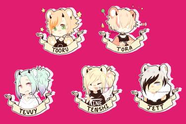 Tora Badges by Kemonomika