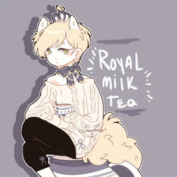 Royal Milk Tea Pom by Kemonomika
