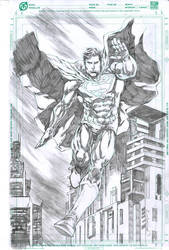 JLA Superman by jgalino