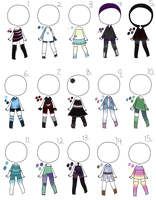 3/15 Open - Adopt Batch 08 - Misc. Outfits by Adopts-and-Designs
