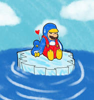 NSMBW: Penguin Love by CaseyLJones