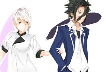 Alice Nakiri x Ryou Kurokiba by Lyra-Kizzle08