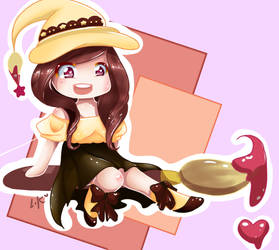 Halloween Chibi - Original Character by Lyra-Kizzle08