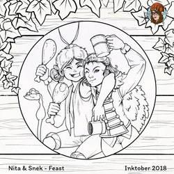 Inktober#17 Feast by JujiBla