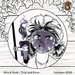 Inktober #19 Trial and Error by JujiBla