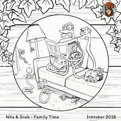Inktober #24 Family Time by JujiBla