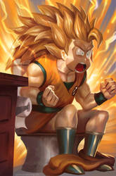 How Goku Unlocked SSJ3 by coreyart7