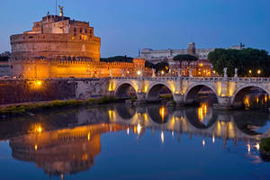 Rome by night-Castel Sant'Angelo by CitizenFresh