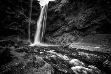 Kvernufoss waterfall 2 by CitizenFresh