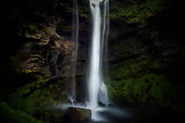 Kvernufoss waterfall 3 by CitizenFresh
