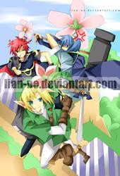three swordsmen an da lipstick by lian-ne