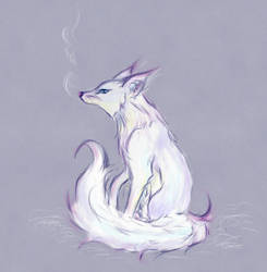 Arctic Fox by Aen-Riv