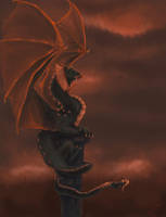 Basilisk dragon by Aen-Riv