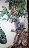'Project G' Rodan detail by D-Angeline