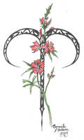 Zodiac Flower Design: Aries by D-Angeline