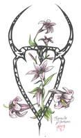 Zodiac Flower Design: Taurus by D-Angeline