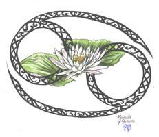 Zodiac Flower Design: Cancer by D-Angeline