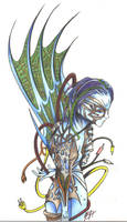 ElectroCyber Chick by D-Angeline