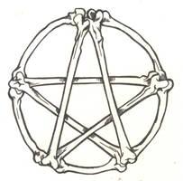 Bones Pentagram by D-Angeline