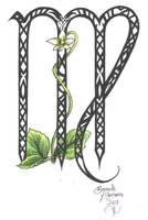 Zodiac Flower Design: Virgo by D-Angeline