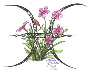 Zodiac Flower Design - Pisces by D-Angeline