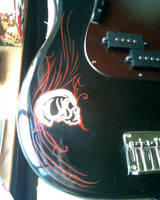 Guitar Pinstriping WIP by D-Angeline