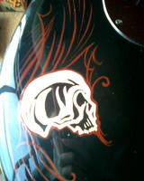 Guitar Pinstriping WIP-detail by D-Angeline