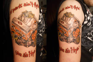 If Parts Ain't Flyin'  - Tattoo by D-Angeline