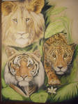 Wild Cats Collage by D-Angeline