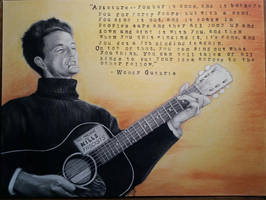 Woody Guthrie by D-Angeline
