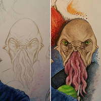 Nephew Ood Detail + WIP by D-Angeline