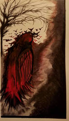 Blood Red King Crow by D-Angeline